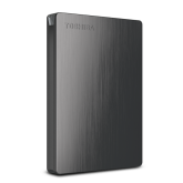 Toshiba 500GB Canvio® Slim II Portable External Hard Drive for PCs - Black