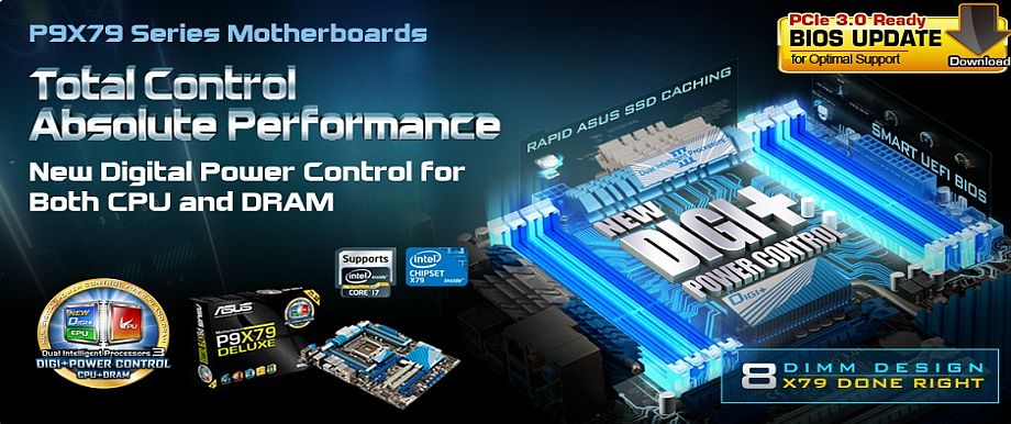 P9X79 Series Motherboards, Total Control Absolute Performance!